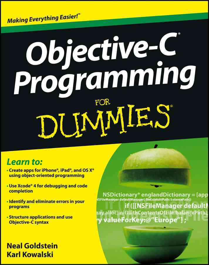 Objective-C Programming for Dummies By Goldstein, Neal